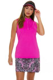 EP Pro NY Women's Marbella Ornate Lacework Pleat Golf Skort