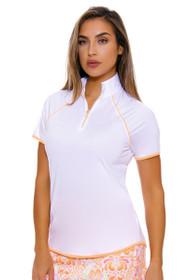 Greg Norman Women's Marrakesh Zip Mock Golf Polo Shirt