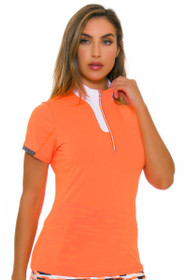 Annika Women's Digital Dane Golf Short Sleeve Polo