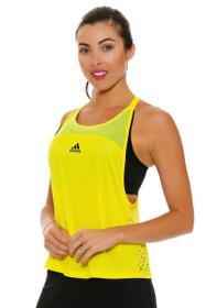 Adidas Women's US Open Halter Back Yellow Tennis Tank