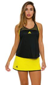 Adidas Women's US Open Bright Yellow Tennis Skirt
