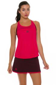 Adidas Women's US Open Dark Burgundy Tennis Skirt
