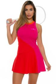 Stella McCartney Barricade Radiant Color Blocked Tennis Dress