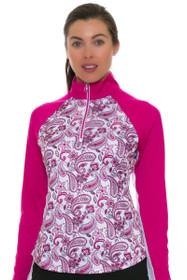 Greg Norman Women's Essentials Solar XP Paisley Print Long Sleeve