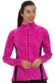 Greg Norman Women's Essentials Diamond Melange Blocked Ruby Jacket