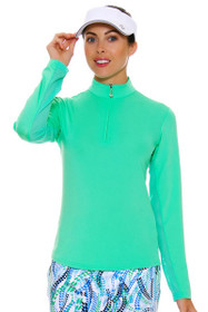 SanSoleil Women's UPF SunGlow Spring Green Long Sleeve