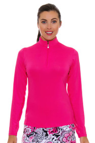 SanSoleil Women's UPF SunGlow Hot Pink Zip Up