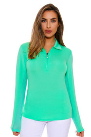 SanSoleil Women's UPF SunGlow Spring Green Sunshirt