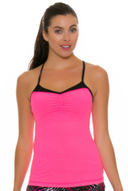 Sofibella Women's Dark Night Strappy Athletic Tennis Cami Tank