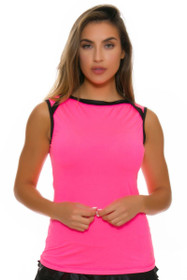 Sofibella Women's Dark Night Classic Pink Tennis Sleeveless