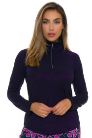 Greg Norman Women's Savannah 1/4 Zip Lurex Long Sleeve