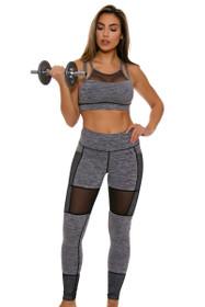 TLF Women's Edie Graphite Heather Workout Legging