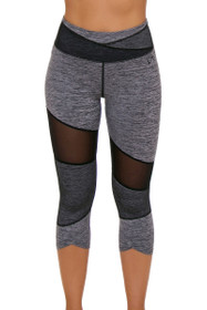 TLF Women's Brigitte Graphite Heather Workout Capri