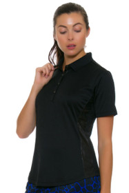 Greg Norman Women's Animal Instincts ML75 Faux Leather Golf Polo