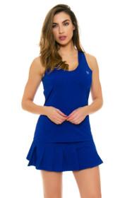 Eleven Blue Flutter Pleated Tennis Skirt