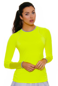 Lucky In Love Women's Love Not War Yellow Long Sleeve Athletic Crew