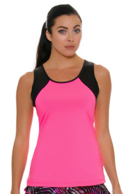 Sofibella Women's Dark Night Full Back Pink Athletic Tennis Tank