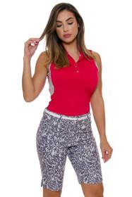 Adidas Women's Energy Essential Printed Bermuda Golf Shorts