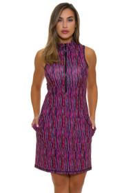 Kevan Hall Sport Women's Mock Zip Adorable Scuba Golf Dress