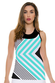 Fine Lines Turquoise Tank