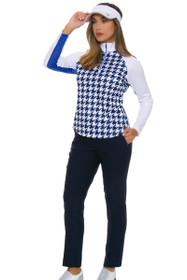 Greg Norman Women's Essentials Perfect Fit Slimming Navy Golf Pants