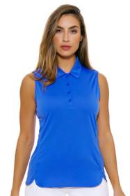 EP Pro NY Women's Sail Blue Performance Jersey Golf Sleeveless Shirt