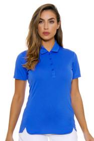 EP Pro NY Women's Sail Blue Performance Jersey Golf Short Sleeve Polo