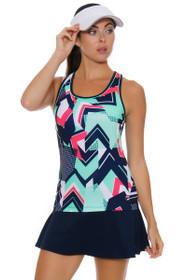 Fila Women's Heritage Flirty Navy Tennis Skirt