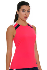 Fila Women's Heritage Full Coverage Diva Pink Tennis Tank