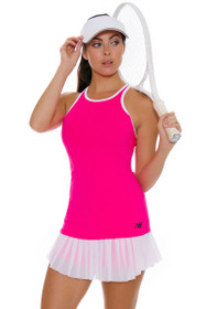 New Balance Women's US Open Heath Tangerine Tennis Skirt