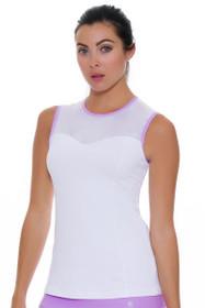 Sofibella Women's Lilac Dream Classic Tennis Sleeveless