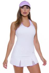 "Sofibella Women's Lilac Dream 13"" Pleated Tennis Skirt"