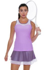"Sofibella Women's Lilac Dream 14"" Flounce Tennis Skirt"