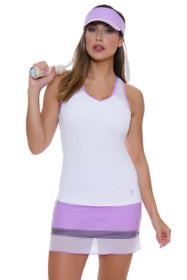 "Sofibella Women's Lilac Dream Straight Pull On 15"" Tennis Skirt"