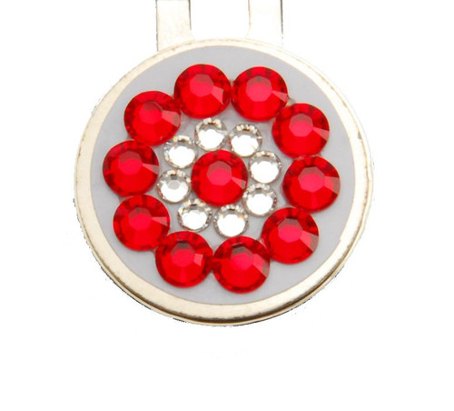 Red & White Crystal Ball Marker