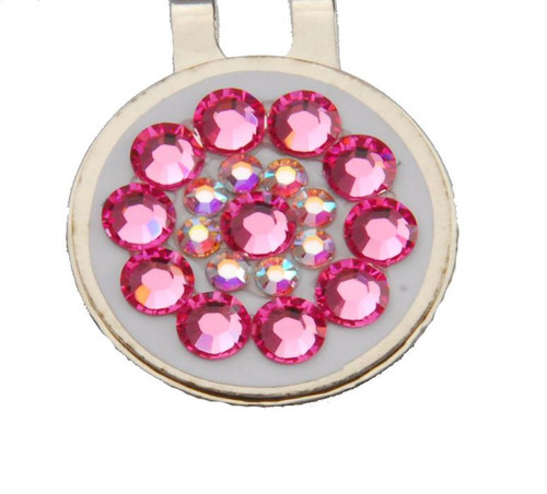 Pink on White Crystal Ball Marker