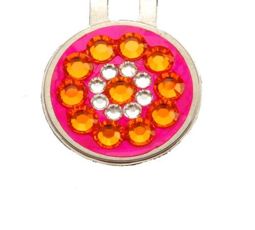 Orange on Pink Crystal Ball Marker