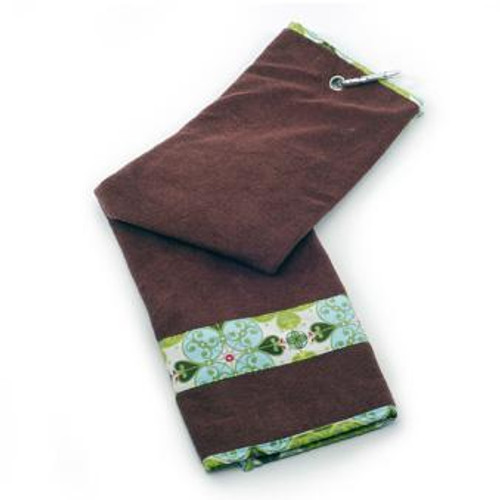 Ocean Flower Stripe Golf Towel G-T159 Image 3