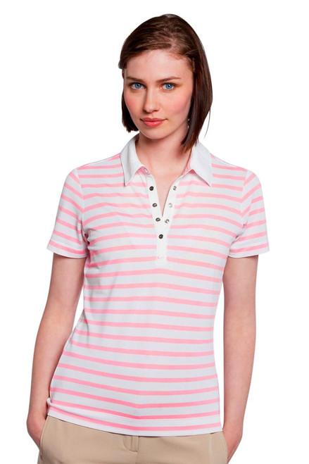 Preppy Stripe Ladies Golf Polo N-358925 Image 3