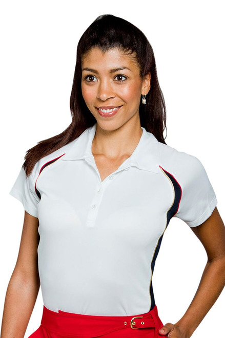 Textured Cap Sleeve Polo EP-5653BE Image 3
