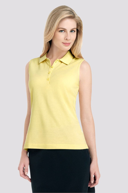Sleeveless 4 Button Ladies Golf Polo-2 Colors EP-5005-Sun Image 3