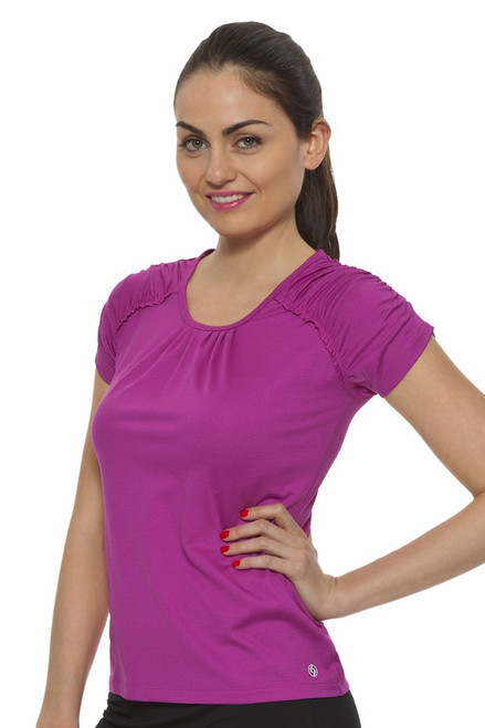 Fuse Ruched Tee - 2 Colors L-12S-1624S Image 14