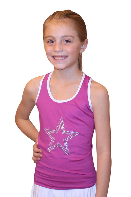 Lucky in Love Ms. Ivan-o-chic Youth Tank - Magenta