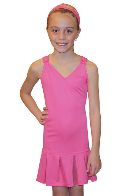 Lucky in Love Ms. Dod-dy Youth Tennis Dress - Fuchsia