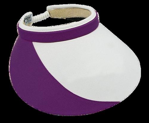 "Shady Lady 5"" White Purple Visor"