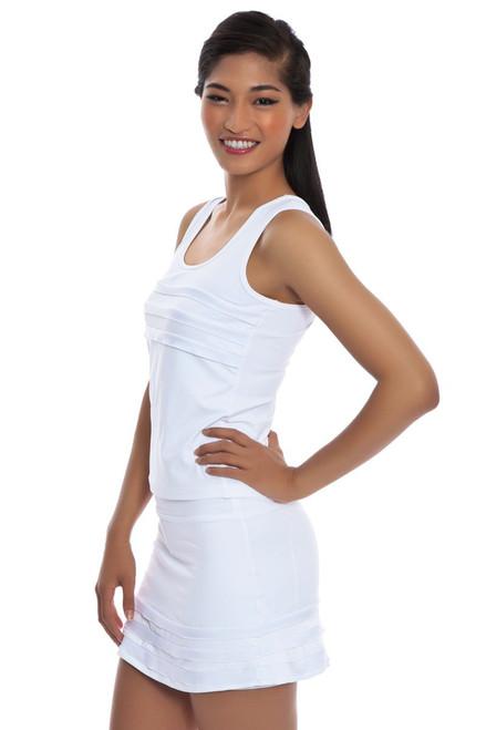 Panel Tennis Skirt LP-SS15-202-white-white Image 3