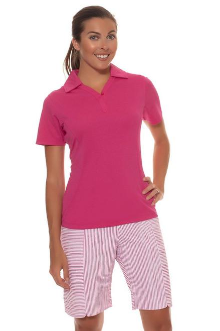 Horizontal Textured Stripe Golf Short EP-8421IB Image 3