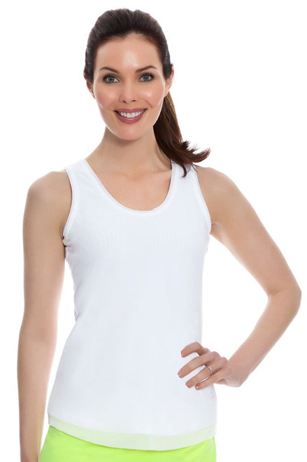 White Net Worth Tank JF-TT045-White Image 3