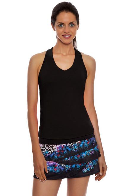 Floral Leopard Scallop Tennis Skirt LIL-CB104-015955 Image 4