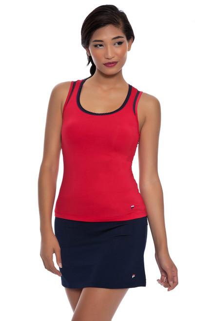 Heritage Solid Tennis Skirt FT-TW153LE8-Crimson Image 1